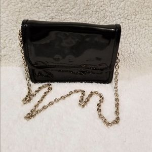 PATENT LEATHER evening bag w/chain strap byTALBOTS